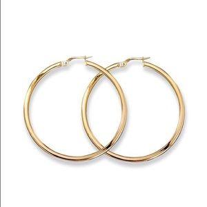 18K Yellow Gold Woven Hoop Earrings